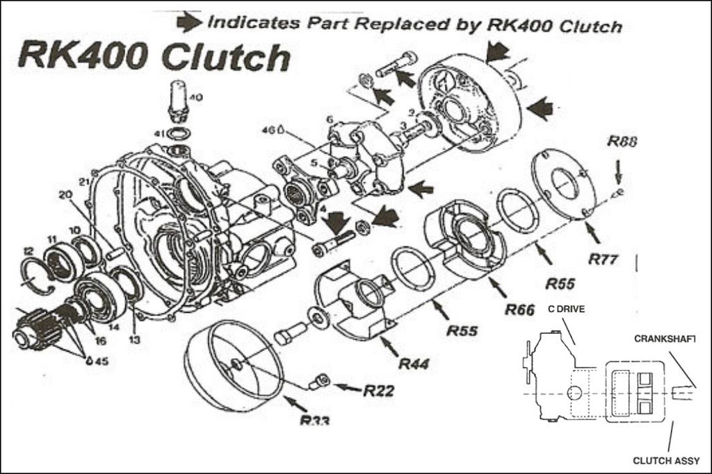 rotax c drive clutch  rk 400 clutch  rotax c drive centrifugal clutch